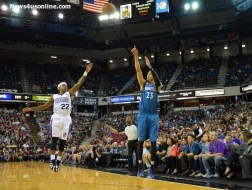 Sacramento Kings guard Isaiah Thomas tries to apply some defense against Kevin Martin of the Minnesota Timberwolves. Photo Credit: Dennis J. Freeman Jr./News4usonline.com