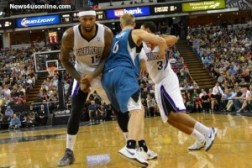 The Kings' DeMarcus Cousins lay down a pick. Photo Credit: Dennis J. Freeman Jr/News4usonline.com