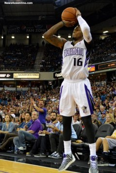 Ben McLemore gets this shot off against the Timberwolves. Photo Credit: Dennis J. Freeman Jr./News4usonline.com