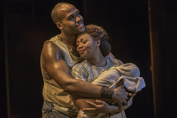 "David Hughey and Sumayya Ali in ""The Gershwins' Porgy and Bess"" by George Gershwin, DuBose and Dorothy Heyward, and Ira Gershwin. Photo by Michael J. Lutch"