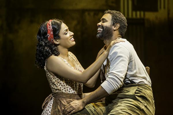 "Alicia Hall Moran and Nathaniel Stampley in ""The Gershwins' Porgy and Bess"" by George Gershwin, DuBose and Dorothy Heyward, and Ira Gershwin. Photo by Michael J. Lutch"