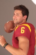 USC Trojan Cody Kessler shows off his arm for the camera. Photo by Jevone Moore / News4usonline.com