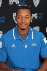 Ucla QB Brett Hundley speaking about team leadership. Photo by Jevone Moore / News4usonline.com
