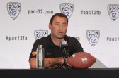 USC Head Coach Steve Sarkisian addressing the Media on the main stage. Photo by Jevone Moore / News4usonline.com