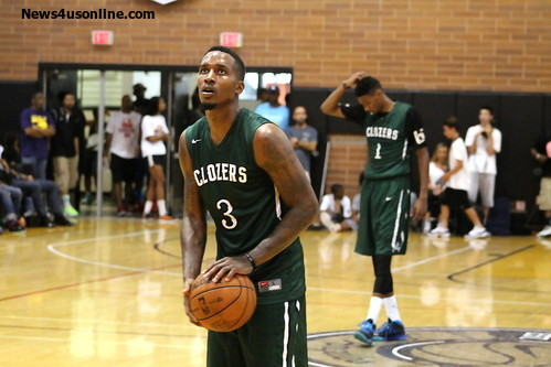 Compton native and current Detroint point guard Brandon Jennings was all the rave at the Drew League on Sunday, July 13. Jennings dropped in a cool 56 points. Photo Credit: Dennis J. Freeman/News4usonline.com