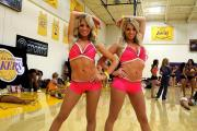 Double trouble: Twins Emily and Hailey Ferguson have been waiting for years to be part of the Lakers Girl audition process. Photo Credit: Dennis J. Freeman/news4usonline.com