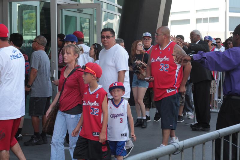 Fans attend fanfest  at Staples Center. Photo Credit: Jevone Moore/News4usonline.com