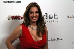 Actress Alex Meneses sparkles in her red dress. Photo Credit: Dennis J. Freeman/News4usonline.com