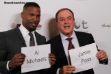 Academy Award winner Jamie Foxx and Hall of Fame broadcaster Al Michaels. Photo Credit: Dennis J. Freeman/News4usonline.com