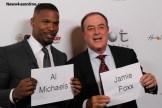 Academy Award winner Jamie Foxx and Hall of Fame broadcaster Al Michaels. Photo Credit: Dennis J. Freeman/News4usonline.com