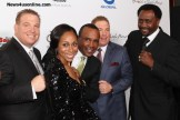 "Dana and Leah Pump, Sugar Ray Leonard, David Pump and Thomas ""Hitman"" Hearns. Photo credit: Dennis J. Freeman/News4usonline.com"
