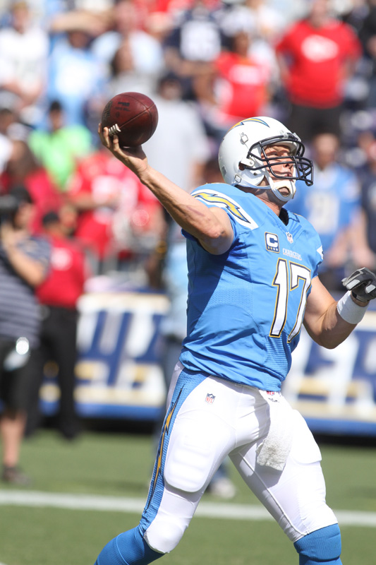 Quarterback Philip Rivers is going to have to be on point with his receivers against the Denver Broncos' revamped defense. Photo Credit: Kevin Reece/News4usonline.com