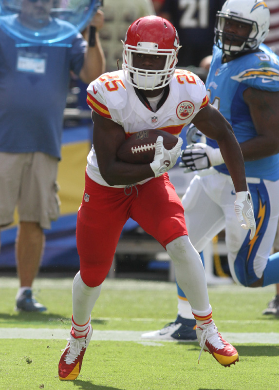 Kansas City Chiefs Running Back Jamaal Charles Rushes For 95 Yards Against The San Diego Chargers