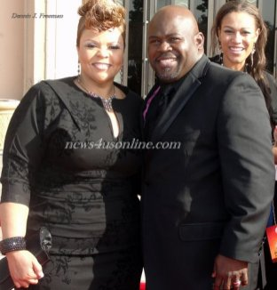 David and Tamela Mann at the 42nd NAACP Image Awards. Photo Credit: Dennis J. Freeman/News4usonline.com