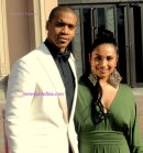 Actor Aaron Spears with his wife on the red carpet. Photo Credit: Dennis J. Freeman/News4usonline.com