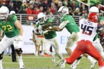Oregon's explosive offense accounted for 627 yards against Arizona. Photo Credit: Jevone Moore/News4usonline.com