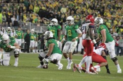 Oregon quarterback Marcus Mariota (8) passed for 313 yards and two touchdowns against Arizona in he Pac-12 Conference Championship. Photo Credit: Jevone Moore/News4usonline.com