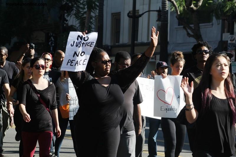 No justice, no peace. Photo Credit: Dennis J. Freeman/News4usonline.com