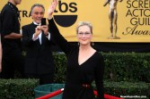 Actress Meryl Streep (Into the Woods) was her usual fabulous self on the red carpet at the 21st SAG Awards on Sunday, Jan. 25, 2015. Photo by Dennis J. Freeman/News4usonline.com