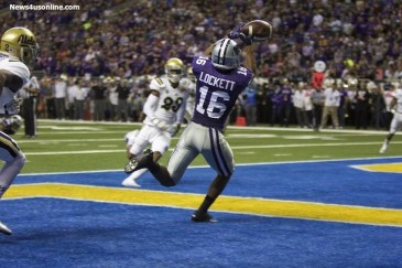 Kansas State wide receiver Tyler Lockett had a big game against the Bruins, catching 13 passes for 164 yards and two touchdowns in the Valero Alamo Bowl. Photo by Antonio Uzeta/News4usonline.com