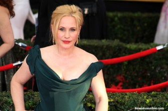 """Boyhood"" star Patricia Arquette brings the green machine to the red carpet at the 21st SAG Awards Sunday, Jan. 25, 2015. Photo by Dennis J. Freeman/News4usonline.com"