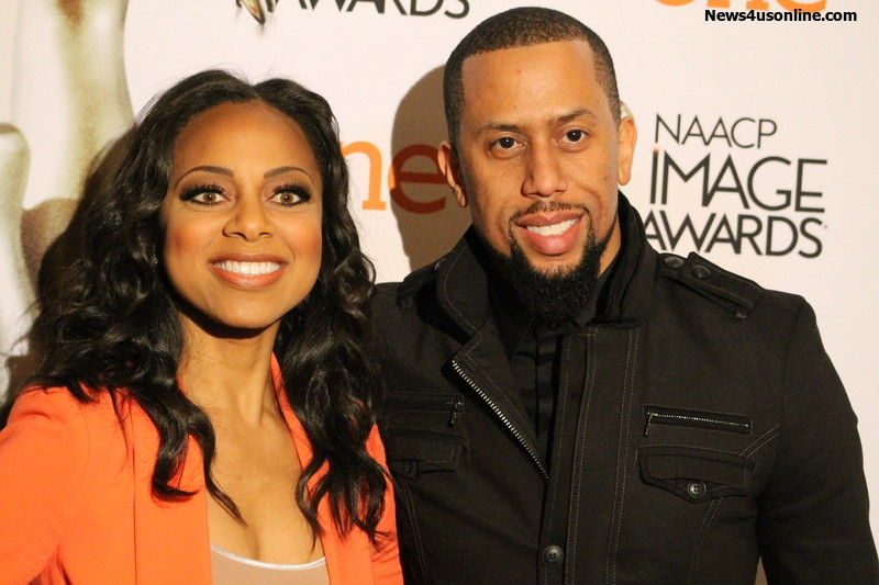 Nischelle Turner and comedian/actor Affion Crockett co-hosted the 2015 NAACP Image Awards Luncheon at the Beverly Hills Luncheon Saturday, Jan. 17. Photo by Dennis J. Freeman/News4usonline.com
