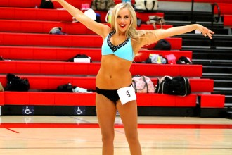 Tyra Dumont, who actually made the LA Clippers Spirit Dance Team, goes through her routine in front of the judges. Photo by Dennis J. Freeman/News4usonline.com