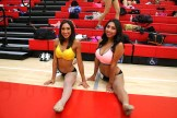 Michelle Salazar and Vivian Alvarez are all smiles during a break in the audition process at the LA Clippers Spirit tryout in Redondo Beach, California. Photo by Dennis J. Freeman/News4usonline.com