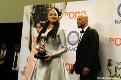 """Selma"" Director Ava DuVernay receives her NAACP Award. Photo by Dennis J. Freeman/News4usonline.com"