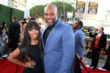 "Imani Hakim ""The Gabby Douglas Story"" and comedian/writer Chris Spencer at the 46th NAACP Image Awards. Photo by Dennis J. Freeman/News4usonline.com"