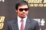 Manny Pacquiao is all business at the Mayweather-Pacquiao press conference in Los Angeles.Photo Credit: Jevone Moore/News4usonline.com