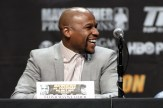 Mayweather-Pacquiao press conference in downtown Los Angeles. Photo Credit: Jevone Moore/News4usonline.com