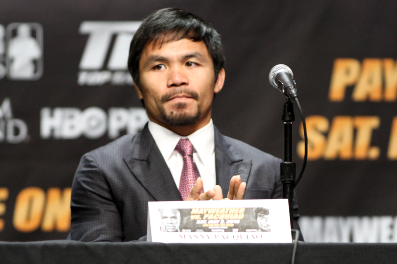 Mayweather vs Pacquiao Press Conference at Nokia Theater. Photo Credit: Jevone Moore/News4usonline.com