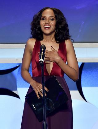 BEVERLY HILLS, CA - MARCH 21: Actress Kerry Washington speaks onstage during the 26th Annual GLAAD Media Awards at The Beverly Hilton Hotel on March 21, 2015 in Beverly Hills, California. (Photo by Kevin Winter/Getty Images for GLAAD) Keywords - Celebrities, Radio, Award, Television Show Photo Credit - Getty Images for GLAAD