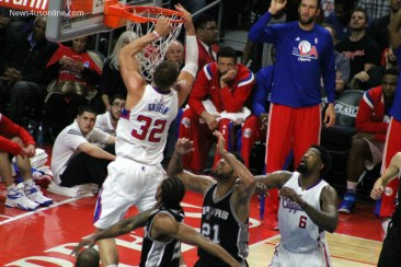 Blake Griffin had another big game in Game 2, scoring 29 points, dishing out 11 assists and grabbing 12 rebounds in the Clippers' 111-107 overtime loss to the Spurs in Game 2. Photo Credit: Dennis J. Freeman/News4usonline.com
