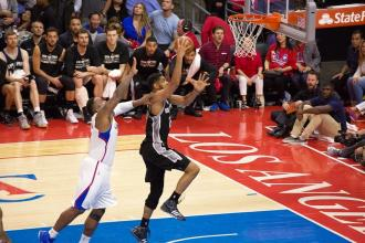 Tim Duncan on his way to scoring two of his 21 points against the Clippers in Game 5. Photo Credit: Tiffany Zablosky/News4usonline.com