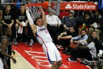 Blake Griffin slams it home for two of his team-high 29 points in Game 2 against the San Antonio Spurs. Photo Credit: Dennis J. Freeman. News4usonline.com
