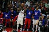Jamal gets ready to drop a 3-pointer against the Spurs. Photo Credit: Dennis J. Freeman/News4usonline.com