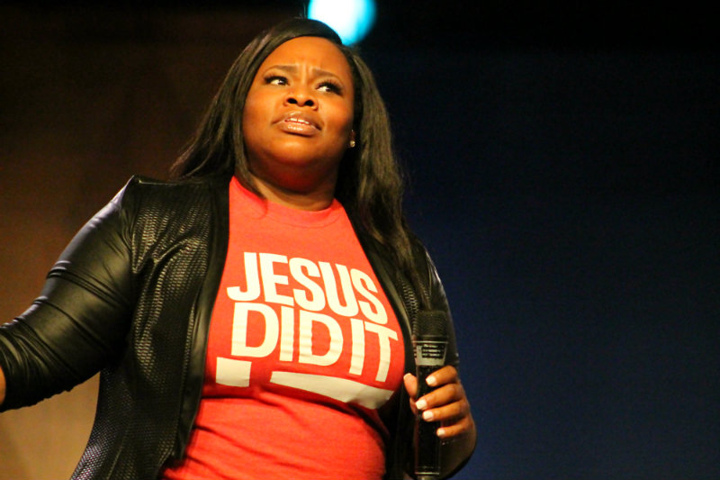 Gospel vocalist Tasha Cobb took praise and worship to another level at the 2015 Gospel Fest. Photo by Dennis J. Freeman