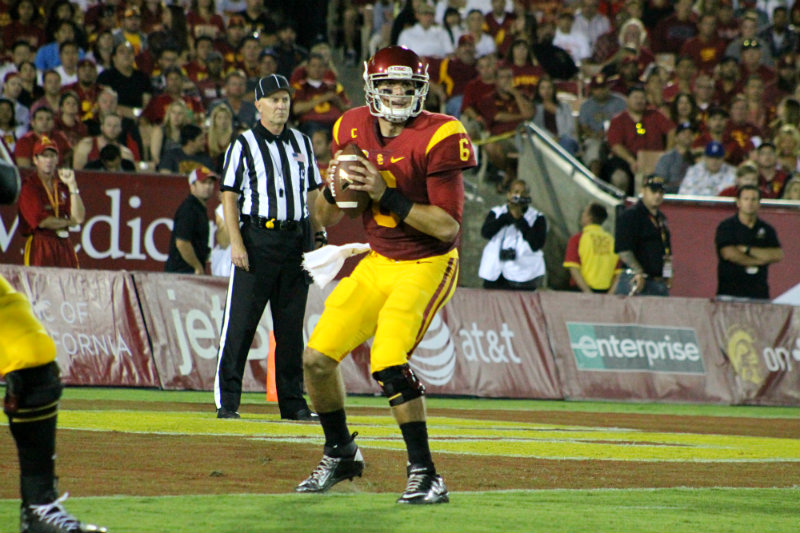 USC quarterback Cody Kessler completed four touchdown passes against the Red Wolves to lead the Trojans to a 55-6 win. Photo Credit: Dennis J. Freeman/News4usonline.com
