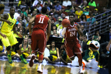 Oklahoma guard Buddy Hield takes over against Oregon in the Elite Eight.