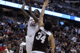 Khadeem Lattin goes for two points against Texas A & M.