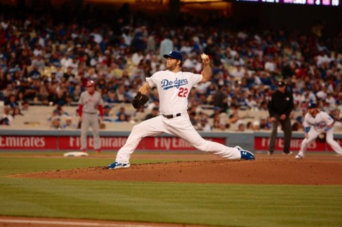Clayton Kershaw picked up his sixth win of the season against the Angels in the Dodgers' 5-1 win. Photo by Astrud Reed/News4usonline.com