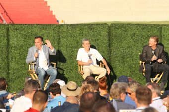 LA Rams coach Jeff Fisher (left) and general manager Les Snead (right) speaks during the All-Access event. Photo by Astrud Reed/News4usonline