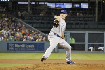 The Dodgers lit up Chicago Cubs pitcher Mike Montgomery for six hits through five innings in the Cubs' 6-4 win at Dodger Stadium, Friday, Aug. 26, 2016. Photo by Dennis J. Freeman/News4usonline