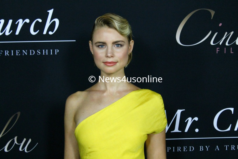 """Actress Lucy Fry, seen here on the red carpet, is one of the co-stars in """"Mr. Church."""" Photo by Dennis J. Freeman/News4usonline"""