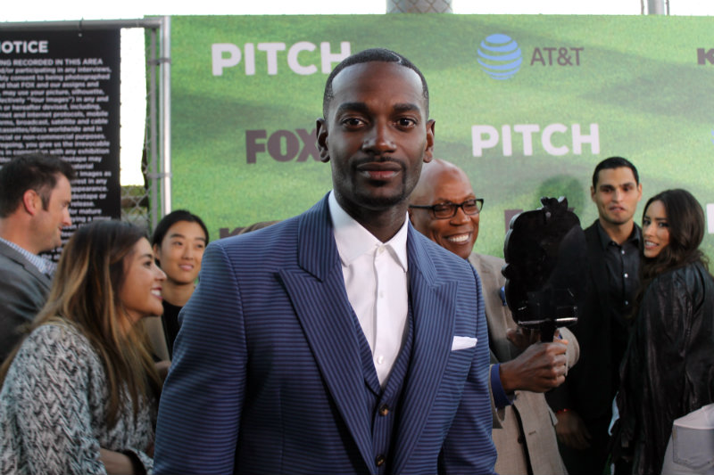 "Actor Mo McRae plays Blip Sanders in the Fox television series ""Pitch."" Photo by Dennis J. Freeman/News4usonline.com"