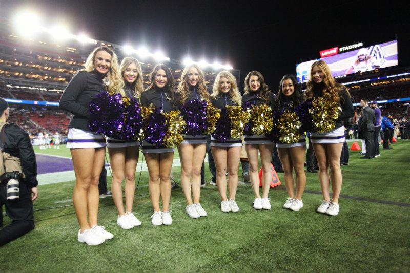 Washington Huskies cheerleaders enjoying their team's victory over Colorado in the Pac-12 Conference Championship. Photo by William Johnson/News4usonline.com