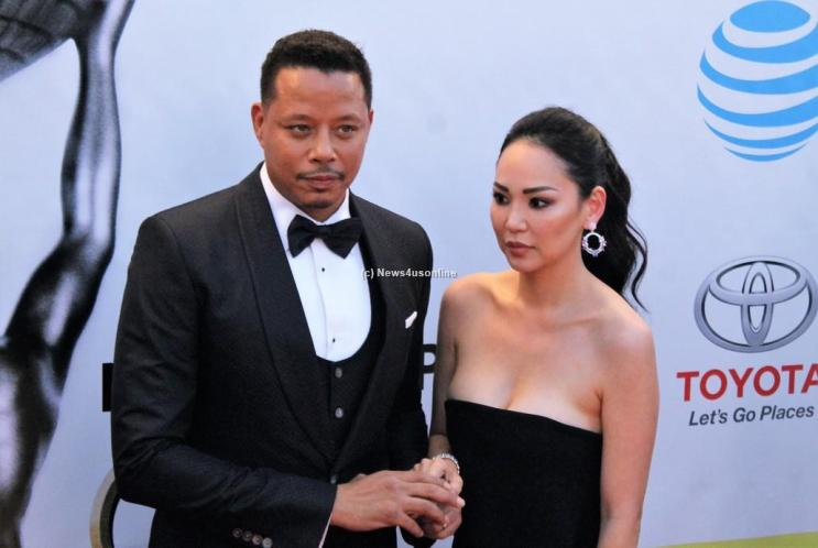 """""""Empire"""" star Terrence Howard and wife at the 48th Annual Image Awards. Photo by Dennis J. Freeman/News4usonline.com"""