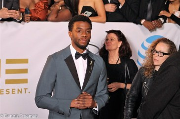 """""""Black Panther"""" star Chadwick Boseman was nominated for an NAACP Image Award as Supreme Court Justice Thurgood Marshall in the film """"Marshall."""" Photo by Dennis J. Freeman"""